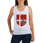 Danish Flag Crest Shield Women's Tank Top