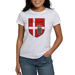 Danish Flag Crest Shield Women's T-Shirt