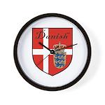 Danish Flag Crest Shield Wall Clock