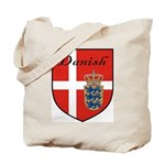 Danish Flag Crest Shield Tote Bag