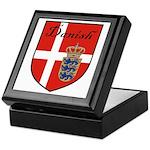 Danish Flag Crest Shield Keepsake Box