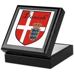 Danish Flag Crest Shield Keepsake Box