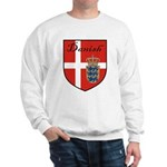 Danish Flag Crest Shield Sweatshirt