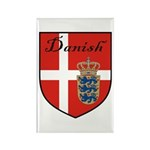 Danish Flag Crest Shield Rectangle Magnet (100 pac