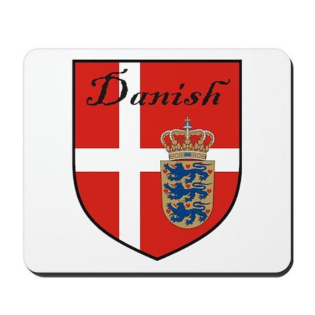 Danish Flag Crest Shield Mousepad