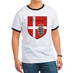 Danish Flag Crest Shield Ringer T
