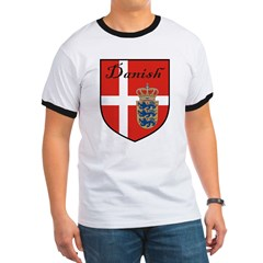 Danish Flag Crest Shield T