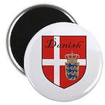 Danish Flag Crest Shield 2.25