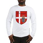 Danish Flag Crest Shield Long Sleeve T-Shirt