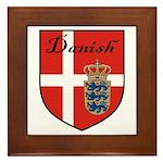 Danish Flag Crest Shield Framed Tile