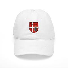 Danish Flag Crest Shield Baseball Cap