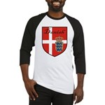 Danish Flag Crest Shield Baseball Jersey