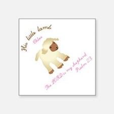 "His little lamb Chloe blank Square Sticker 3"" x 3"""