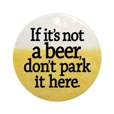 Funny Beer Coaster Round Ornament