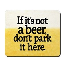 Funny Beer Coaster Mousepad