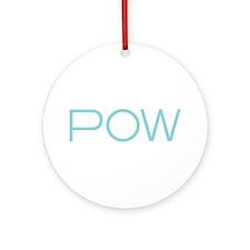 pow wow wht Round Ornament