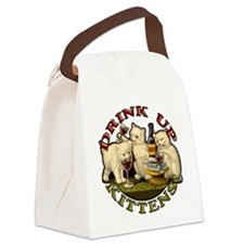 drink-up-kittens Canvas Lunch Bag