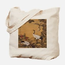 cranes-woodblock-print-iPad-case Tote Bag