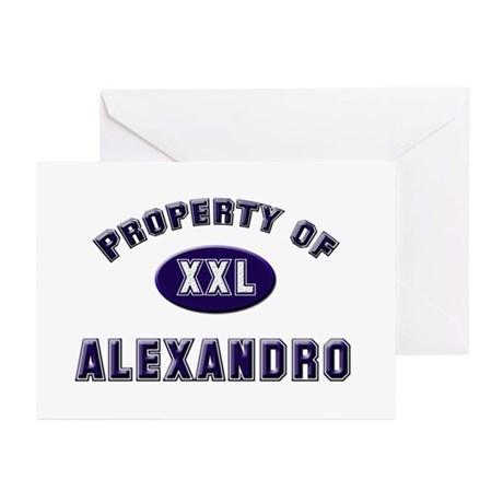 Property of alexandro Greeting Cards (Pk of 10
