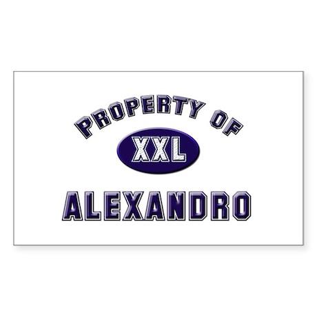 Property of alexandro Rectangle Sticker