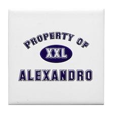Property of alexandro Tile Coaster