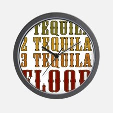 1-tequila-2-tequila Wall Clock