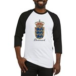 Denmark Coat of Arms Crest Baseball Jersey