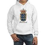 Denmark Coat of Arms Crest Hooded Sweatshirt