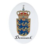 Denmark Coat of Arms Crest Oval Ornament