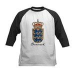 Denmark Coat of Arms Crest Kids Baseball Jersey