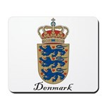Denmark Coat of Arms Crest Mousepad