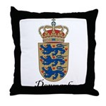 Denmark Coat of Arms Crest Throw Pillow