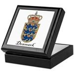 Denmark Coat of Arms Crest Keepsake Box