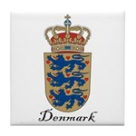 Denmark Coat of Arms Crest Tile Coaster