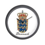 Denmark Coat of Arms Crest Wall Clock