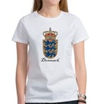 Denmark Coat of Arms Crest Women's T-Shirt