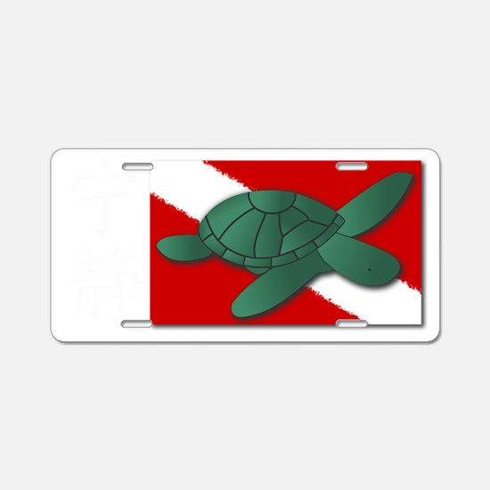 Serenity Scuba Flag and Kan Aluminum License Plate
