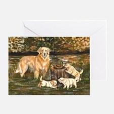 golden family Greeting Card