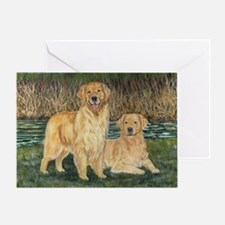 golden marsh pair Greeting Card