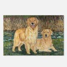 golden marsh pair Postcards (Package of 8)