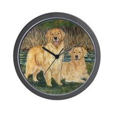 golden marsh pair Wall Clock