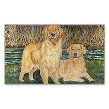 golden marsh pair Decal