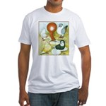 Pigeon Color Book Fitted T-Shirt