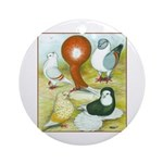Pigeon Color Book Ornament (Round)
