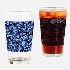 Blue Camo Drinking Glass