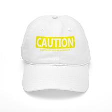 cautionunderpressure-yel Baseball Cap