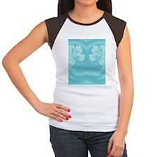Aqua-FlipFlop Women's Cap Sleeve T-Shirt