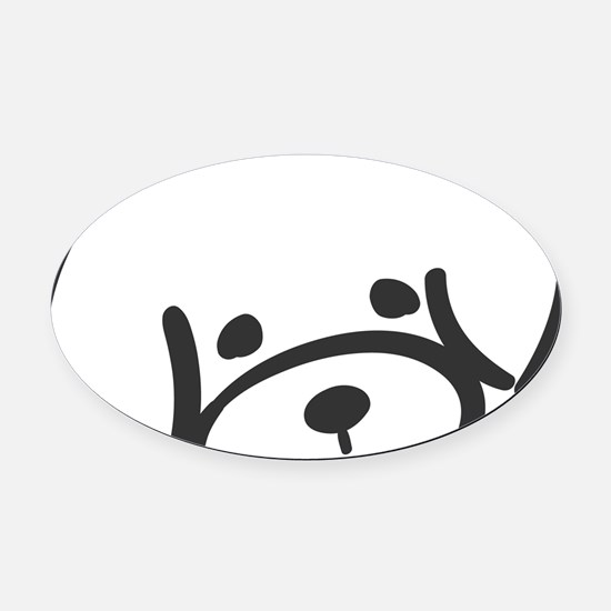 bichon face Oval Car Magnet