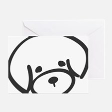 bichon face Greeting Card