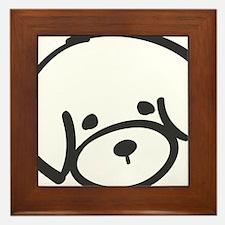 bichon face Framed Tile